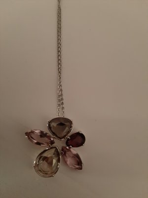 Swarovski Collar violeta grisáceo-gris claro