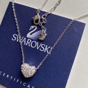 Swarovski Herz Halskette silber mit Kristallen