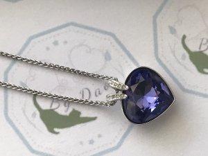 Swarovski Zilveren ketting zilver-blauw