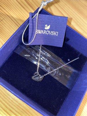 Swarovski Collar negro-color plata