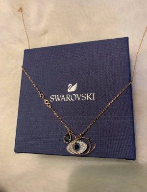 Swarovski Collana color oro rosa-blu
