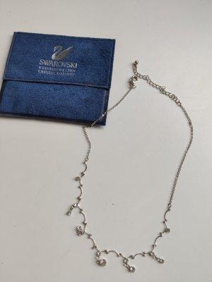 Swarovski Łańcuch biały-srebrny