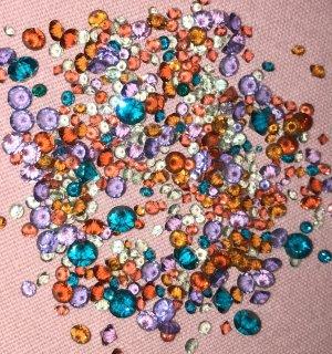 Swarovski Button multicolored