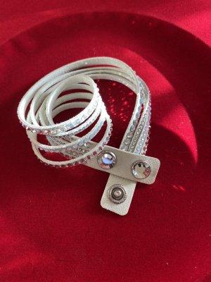 Swarovski Bracelet en cuir multicolore
