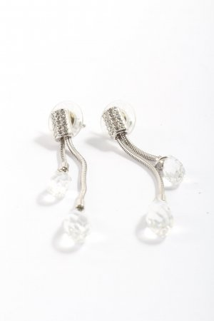 Swarovski Wiszące kolczyki srebrny Elegancki