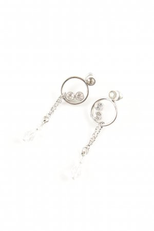 Swarovski Pendientes colgante color plata elegante