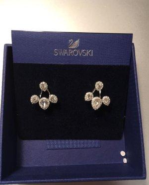 Swarovski Zarcillo blanco metal