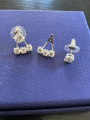 Swarovski Zarcillo color plata