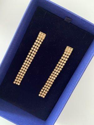 Swarovski Zdobione kolczyki złoto