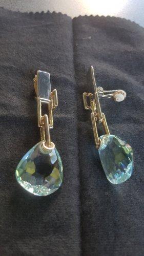 Swarovski Clip d'oreille bleu clair-bleu pétrole