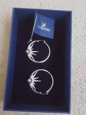 Swarovski Orecchino a cerchio argento