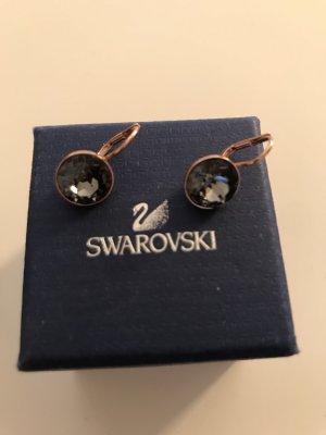 Swarovski Gold Earring rose-gold-coloured-black
