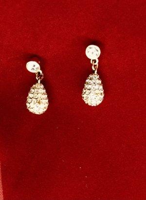 Ohrringe mit Swarovski Steinen Bungeloorbellen goud