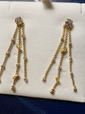 Swarovski Zarcillo color oro