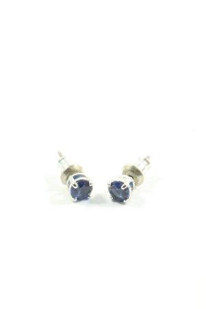 Swarovski Zarcillo color plata-azul elegante
