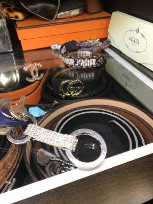 Swarovski Porte-clés blanc-argenté