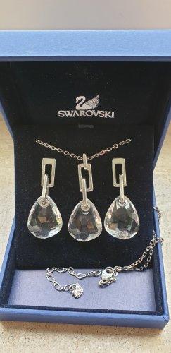 Swarovski Bungeloorbellen zilver