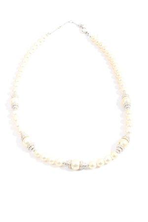 Swarovski Pearl Necklace silver-colored-natural white casual look