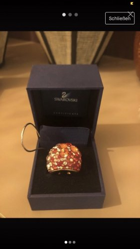 Swarovski Statement Ring red-gold-colored