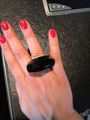 Swarovski Silver Ring black