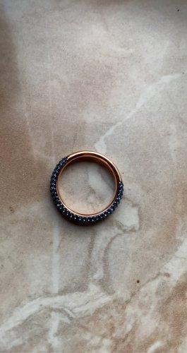 Swarovski Bague en or or rose-bleu foncé