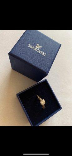 Swarovski Zdobiony pierścionek w kolorze różowego złota