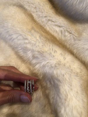 Swarovski Anillo de cuentas color plata