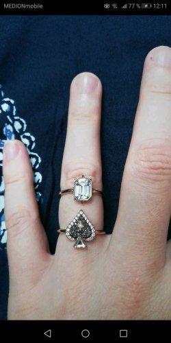 Swarovski Złoty pierścionek biały-złoto