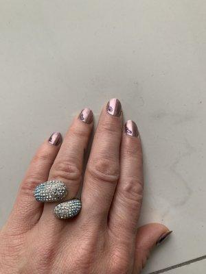 Swarovski Bague incrustée de pierres multicolore