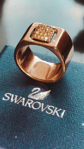 Swarovski Anneau avec pierre decorative doré