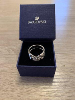 Swarovski Zilveren ring wit-zilver