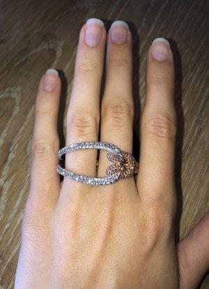 Swarovski Ring / Lifelong Ring / Knoten Ring / Fingerring / Schmuck / Vergoldeter Ring / Rose Gold Ring / Silber Ring