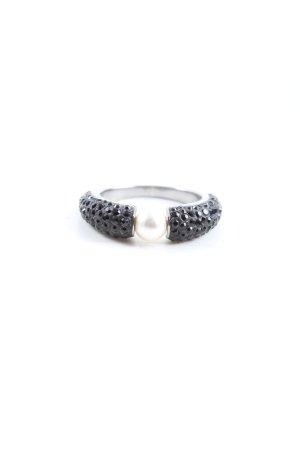 Swarovski Pierścionek z ozdobnym kamieniem srebrny Elegancki