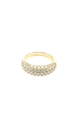 Swarovski Ring mit Zierstein goldfarben Elegant