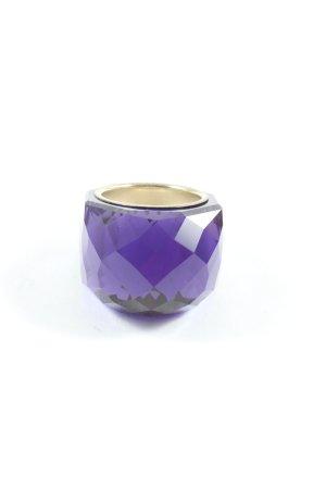 Swarovski Ring mit Zierstein lila Elegant
