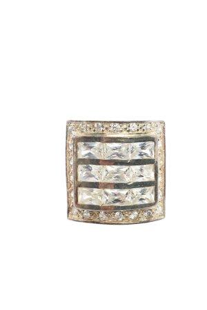 Swarovski Ring mit Zierstein goldfarben Casual-Look