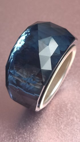 Swarovski Anello di fidanzamento blu acciaio