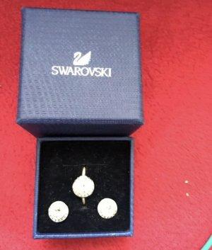 Swarovski Ring & Ohrringe ANGELIC weiß