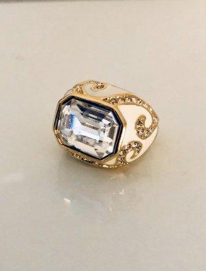 Swarovski Statement Ring natural white-gold-colored