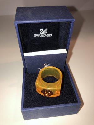 Swarovski Ring Orange Braun