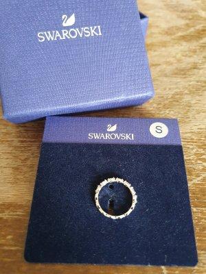 Swarovski Ring, schmal, silber