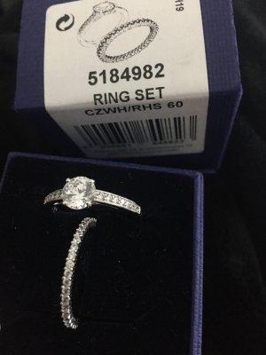 Swarovski Silver Ring multicolored