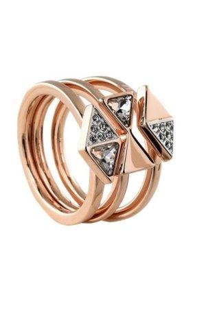 Swarovski Złoty pierścionek w kolorze różowego złota