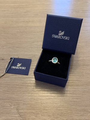 Swarovski Silver Ring silver-colored-turquoise