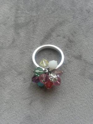 Swarovski Ring Silber mit bunten Steinen