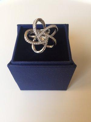 Swarovski Ring weiß vergoldet