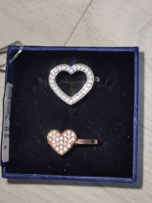Swarovski Anello d'argento argento-color oro rosa