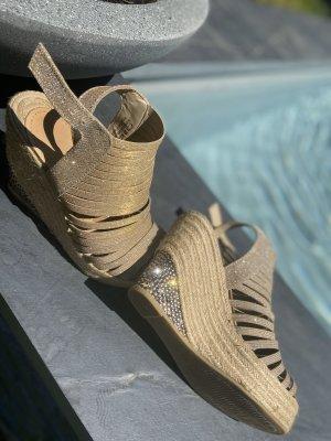 Swarovski Sandalen 36 Glitzer