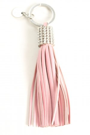 Swarovski Schlüsselanhänger pink-silberfarben Glanz-Optik