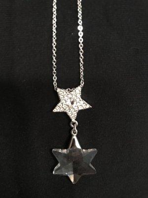 Swarovski Silber-farbene Kette mit Sternanhänger